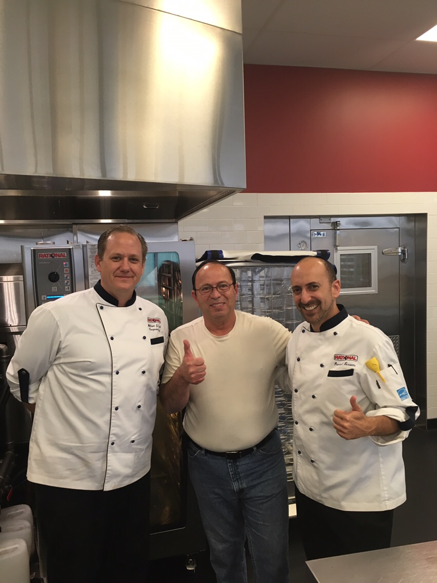Chef Billy & Chef Daniel ~ Teaching me how to be an expert with the Rational Self Cooking Center.  The class was in Chicago .